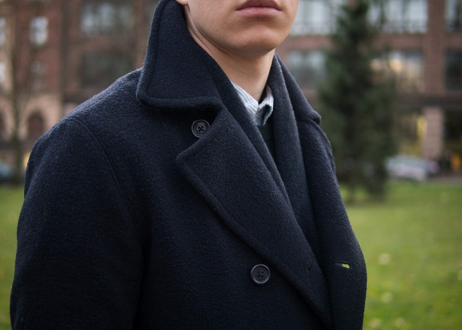 How can you choose the peacoat that is exclusively available for men?