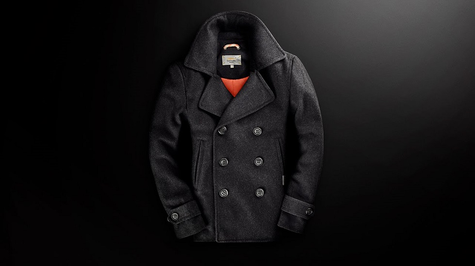 different men's peacoat